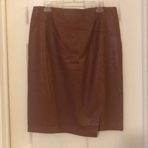 NWT Brown leather skirt from a WHBM — sz 14